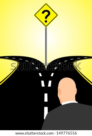 Forked Road - stock photo