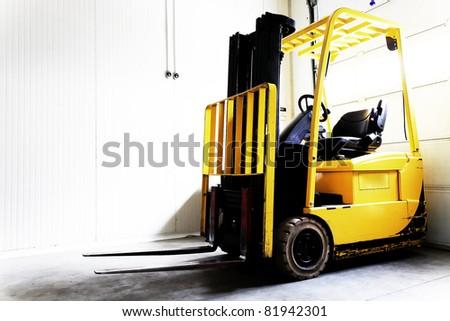 Forklift Truck - stock photo