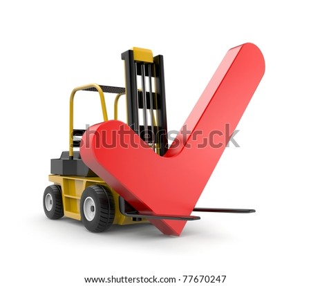 Forklift with check