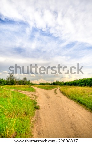 Forks in the Road - stock photo