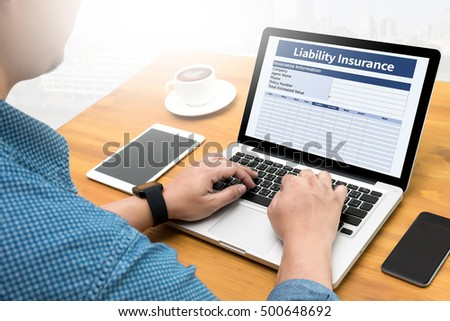 Form Document  Liability Insurance Money RIsk  Computing Computer  flare sun, Cropped image male freelancer sitting at the table
