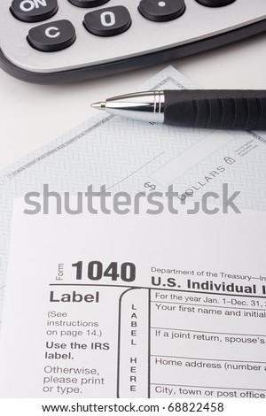 Form 1040 for filing tax returns in the U.S..