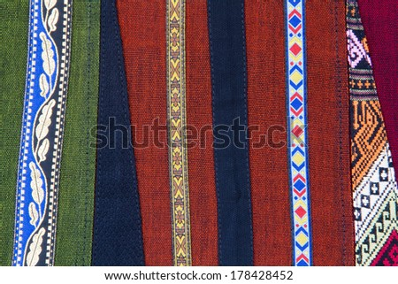 Form of handmade fabric,style Thailand