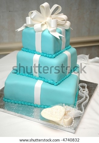 Formal Birthday Cake On Table Necklace Stock Photo - Formal birthday cakes