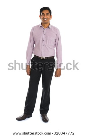 formal indian business man with white background
