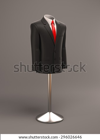 formal suit on shop mannequins - stock photo