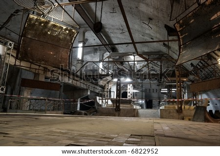 Former soviet underground submarine base in Balaklava - stock photo