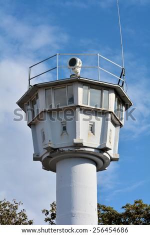 former watchtower on the Baltic Sea in Heiligendamm  - stock photo