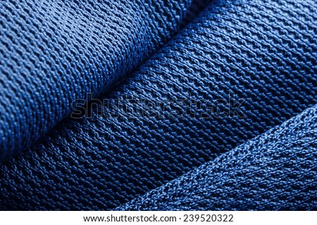 Forms of blue fabric texture - stock photo