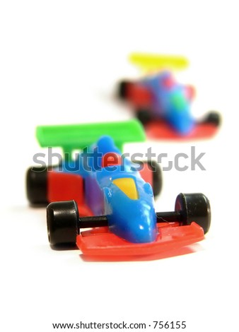 Formula 1 (F1) cars toys - stock photo