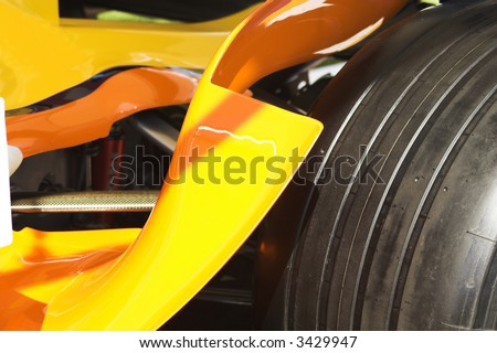 formula one wheel detail - stock photo