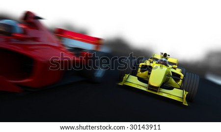 Formula 1 Sport car in action - stock photo