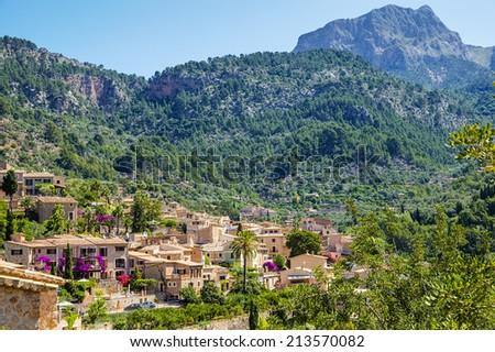 Fornalutx village on Majorca - stock photo