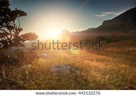 Foros Mountain (Ukraine, Crimea - 2016) - stock photo