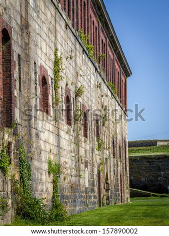 Fort Adams in Newport, RI - stock photo