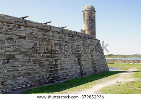 Fort at St Augustine, Florida                      - stock photo