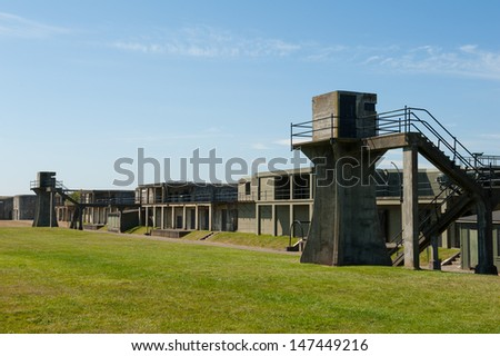 Fort Casey on Whidbey Island in Washington - stock photo