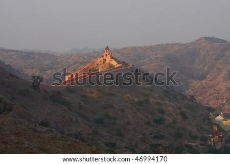 Fort in Jaipur, India - stock photo