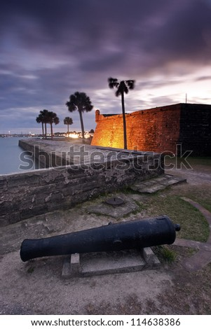 Fort in St. Augustine, Florida - stock photo