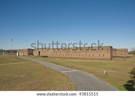 Fort Jackson on the Savannah River in Georgia. - stock photo