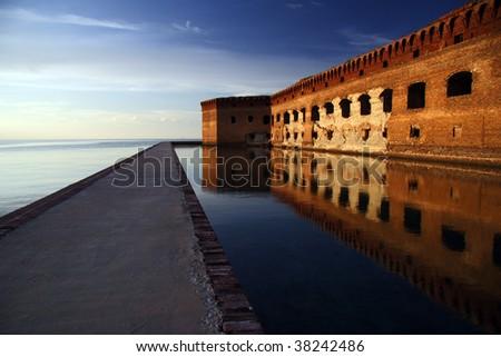 Fort Jefferson - stock photo