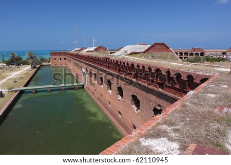 Fort Jefferson in Dry Tortugas National Park - stock photo