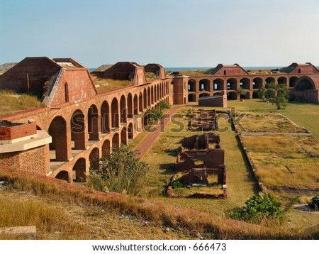 Fort Jefferson National Park, in the Dry Tortugas, 70 miles west of Key West, Florida - stock photo