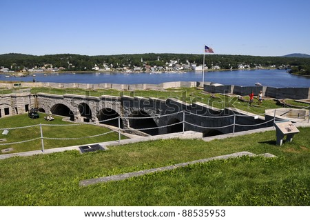 Fort Knox, Penobscot River, Maine, USA