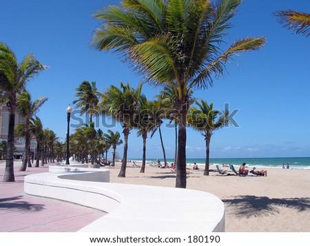 Fort Lauderdale Beach, Florida USA - stock photo