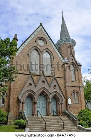 Fort Massey United Church in Halifax Nova Scotia Canada - stock photo