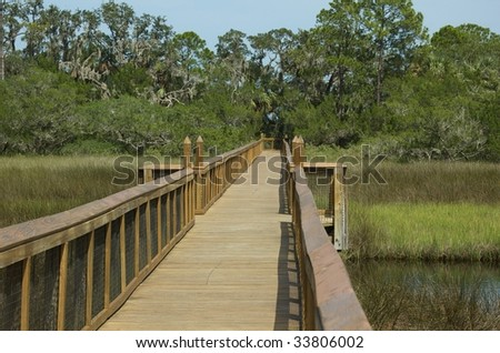 Fort Mose, St. Augustine, Boardwalk - stock photo