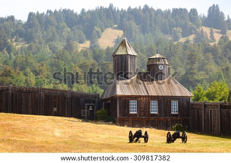 Fort Ross State Historic Park - stock photo