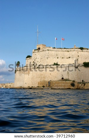 Fort St. Angelo in Grand harbour, Malta