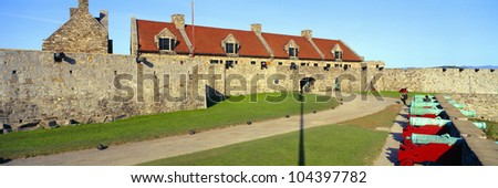 Fort Ticonderoga, Lake Champlain, New York State - stock photo