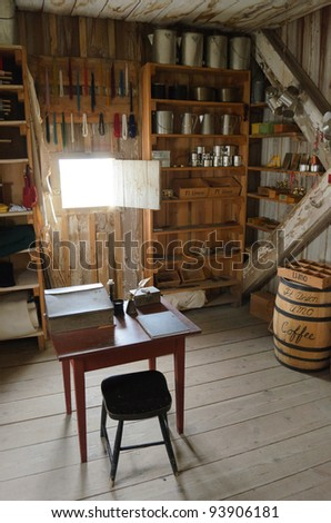 Fort Union Trading Post National Historic Site, historic store - stock photo