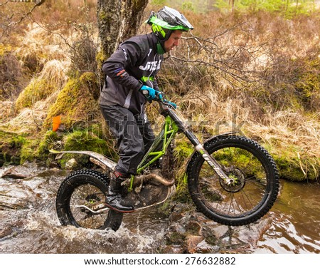 FORT WILLIAM, LOCHABER, SCOTLAND - 5 MAY: This is a scene from within the Scottish Six Day Trials Event, SSDT, meetings around the highlands around Fort William, Lochaber, Scotland on 5 May 2015.