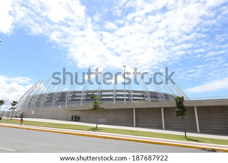 Fortaleza, 26 JUNE 2013 - PHOTO CASTELÃ?Â?O STADIUM, WHERE WILL BE PLAYED A WORLD CUP 2014 IN Fortaleza