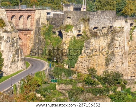 forteress of Luxembourg, Europe - stock photo