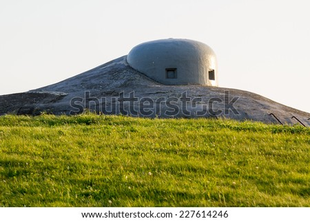 Fortification bunker WWII - stock photo