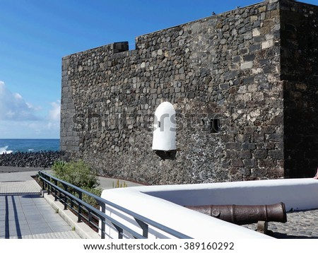 fortress castillo San Felipe in Puerto de la Cruz,Tenerife - stock photo