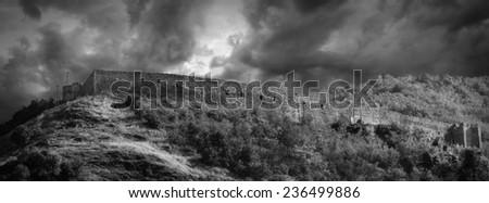 fortress in kosovo, prizren - stock photo