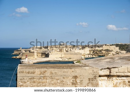Fortress in Valletta, Malta - stock photo