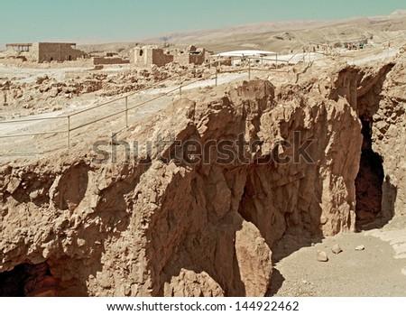 Fortress Masada, Israel - stock photo