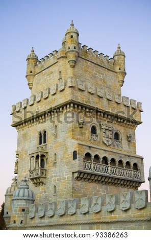 Fortress of Belen in a river Tagus mouth. Portugal, Lisbon - stock photo