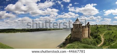 Fortress of Khotyn, Ukraine - stock photo