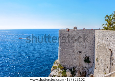 Fortress of the Old City of Dubrovnik (Croatia), a city on the Adriatic Sea. - stock photo