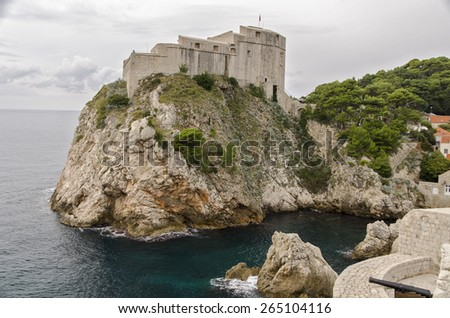 Fortress of the Old town of Dubrovnik, Croatia  - stock photo