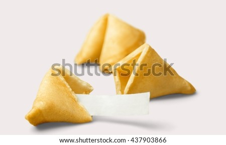 Fortune Cookie. - stock photo