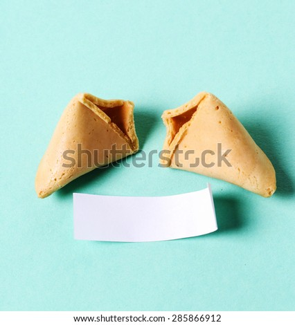 Fortune cookie on the table - stock photo