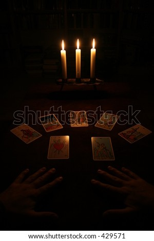 fortune telling - stock photo